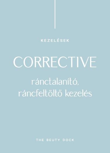 CORRECTIVE – RÁNCTALANÍTÓ, RÁNCFELTÖLTŐ KEZELÉS
